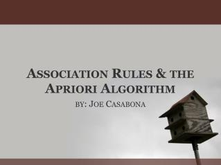 association rules  the apriori algorithm