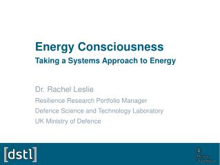 Energy Consciousness Taking a Systems Approach to Energy