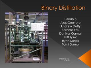 Binary Distillation
