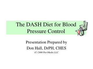 the dash diet for blood pressure control