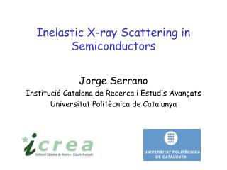 Inelastic X-ray Scattering in Semiconductors