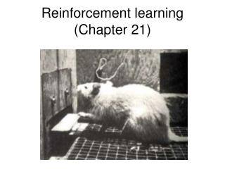 Reinforcement learning (Chapter 21)