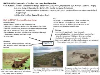 HAPPISBURGH- Summaries of the four case study that I looked  at: