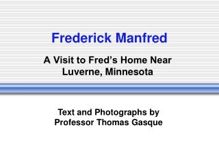 Frederick Manfred