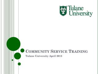 Community Service Training