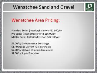 Wenatchee Sand and Gravel