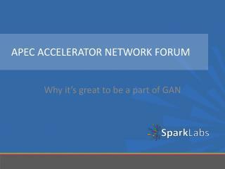 APEC Accelerator network forum