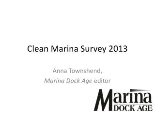 Clean Marina Survey 2013