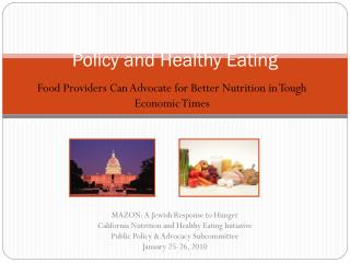 Policy and Healthy Eating