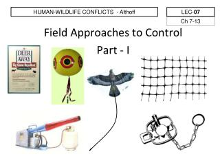 Field Approaches to Control Part - I