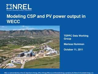 Modeling CSP and PV power output in WECC