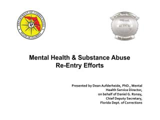 Mental  Health  &  Substance Abuse Re-Entry Efforts