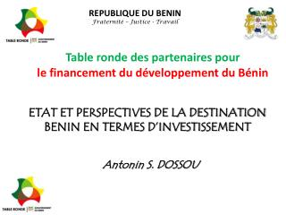 Table ronde des partenaires pour le financement du développement du Bénin