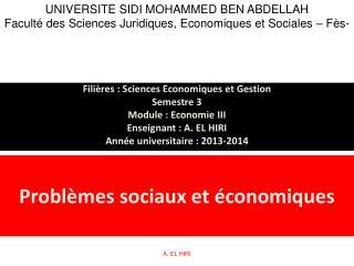 Problèmes sociaux et économiques