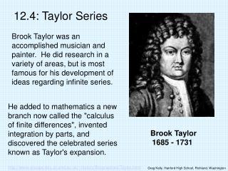 brook taylor 1685 - 1731