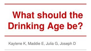 What should the Drinking Age be?
