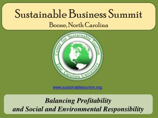 Sustainable Business Summit Boone, North Carolina