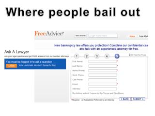Where people bail out