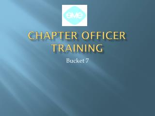 Chapter Officer Training