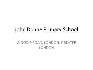 John Donne Primary School