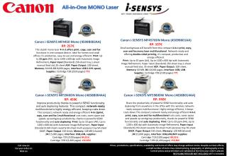 All-in-One MONO Laser