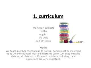1. curriculum