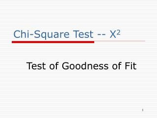 chi-square test -- x2