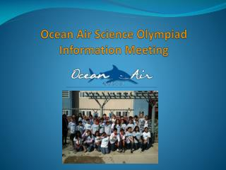 Ocean Air Science Olympiad  Information Meeting