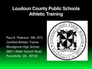 Loudoun County Public Schools Athletic Training