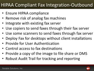HIPAA Compliant Fax Integration-Outbound