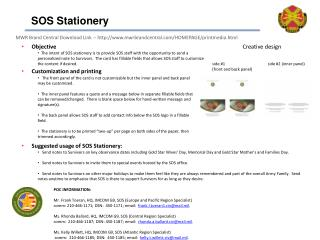 SOS Stationery