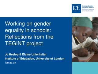 Working on gender equality in schools: Reflections from the TEGINT project