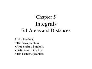 chapter 5 integrals 5.1 areas and distances
