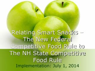 Relating Smart Snacks – The New Federal Competitive Food Rule to The NH State Competitive Food Rule