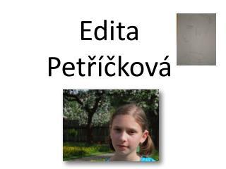 Edita Petříčková
