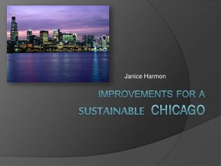 Improvements for a Sustainable Chicago