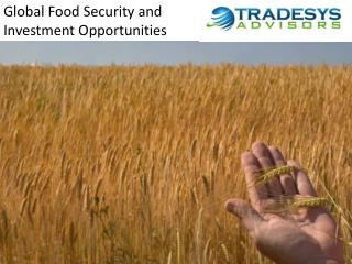 Global Food Security and Investment Opportunities