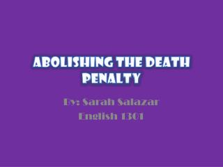 Abolishing the Death Penalty