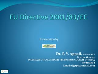 EU Directive 2001/83/EC