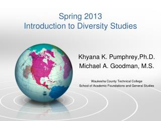 Spring 2013 Introduction to Diversity Studies