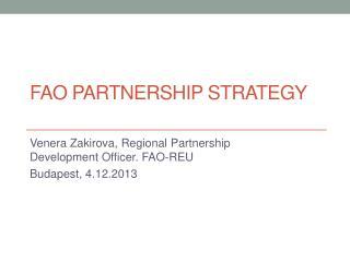 FAO Partnership Strategy