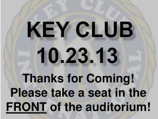 Key Club 10.23.13