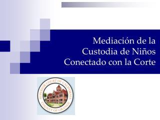 Mediación de la  Custodia de Niños  Conectado con la Corte