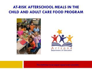 At-Risk Afterschool Meals in the Child and Adult Care Food Program