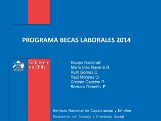 PROGRAMA BECAS LABORALES 2014