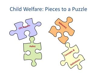 Child Welfare:  Pieces to a Puzzle