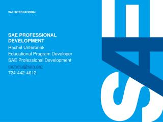 SAE Professional development