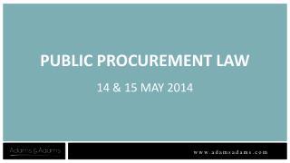 PUBLIC PROCUREMENT LAW 14 & 15 MAY 2014