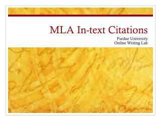 MLA In-text Citations