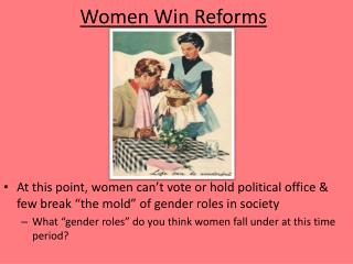Women Win Reforms
